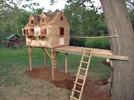 Simple Diy Treehouse For Kids Play 40