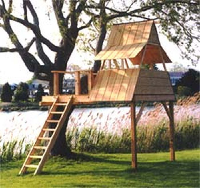 Simple Diy Treehouse For Kids Play 51