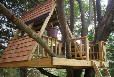 Simple Diy Treehouse For Kids Play 57