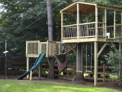 Simple Diy Treehouse For Kids Play 65