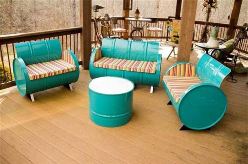 Amazing Creative Recycle Barrels Ideas For Your Home 5