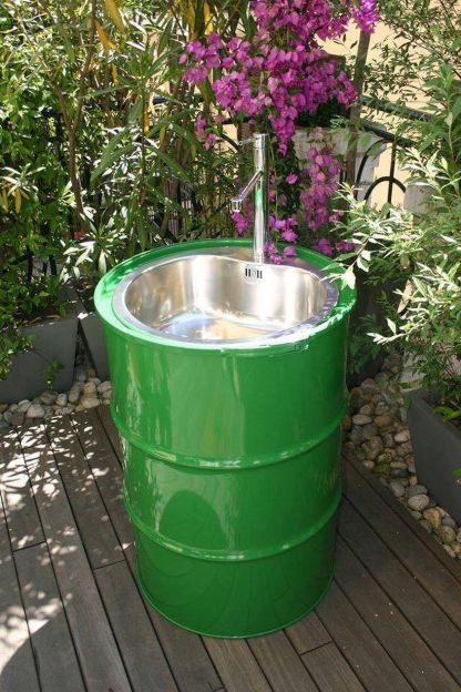 Amazing Creative Recycle Barrels Ideas For Your Home 6