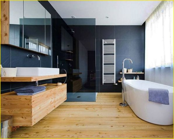 Cozy Wooden Bathroom Designs Ideas 10