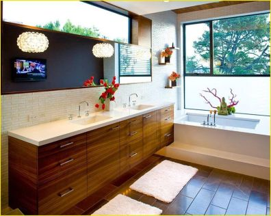 Cozy Wooden Bathroom Designs Ideas 14