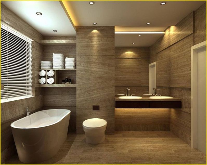 Cozy Wooden Bathroom Designs Ideas 9