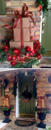 Amazing Christmas Porch Ornament And Decorations 99