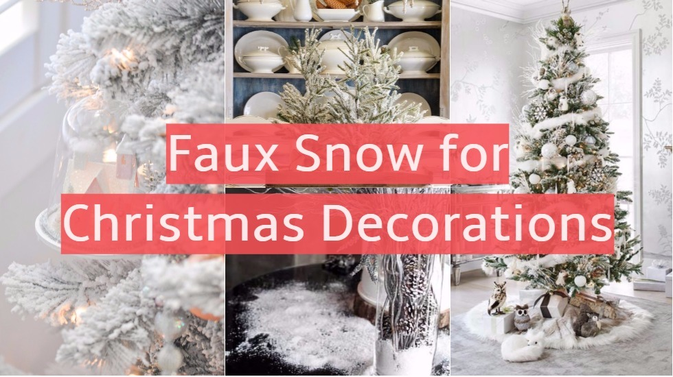 Faux Snow For Christmas Decorations