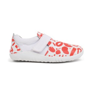 Kid+ (Νο:27-33) Aktiv Abstract Shoe White+Tanger