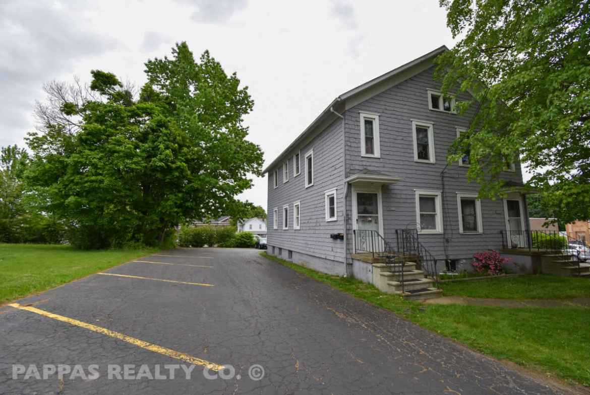 Front View with parking Lot. Pappas Realty Co.