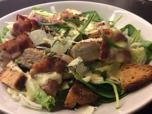 En slags Caesar salat:)