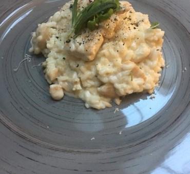 Risotto med kylling, fløte & parmesan