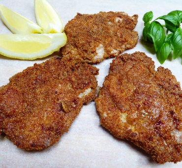 Glutenfri schnitzel laget med cornflakes