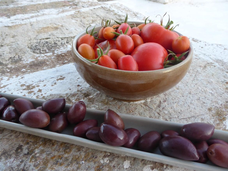 tomater og oliven. Uslåelig kombinasjon