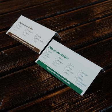 Matallergikort til mat/kakebordet