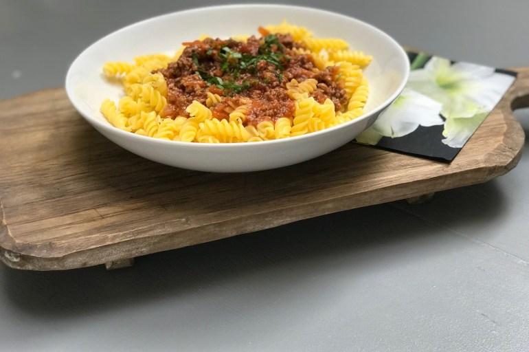 Glutenfri pasta med kjøttsaus. #middagpå30minutter