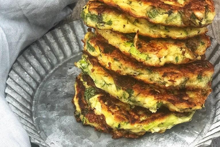 Glutenfrie zucchini fritters