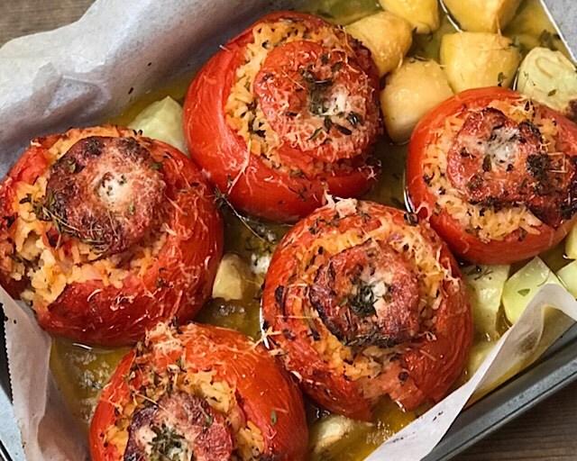 Fylte tomater