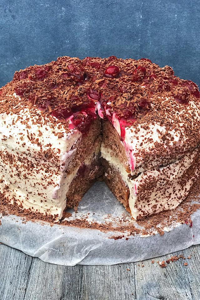 Glutenfri black forest kake