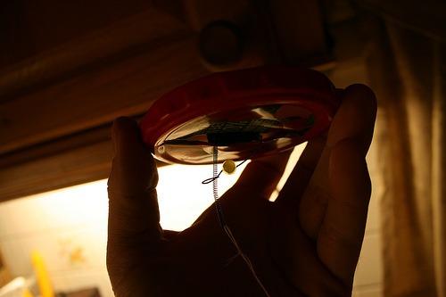 DIY: Wind triggered blinking garden light