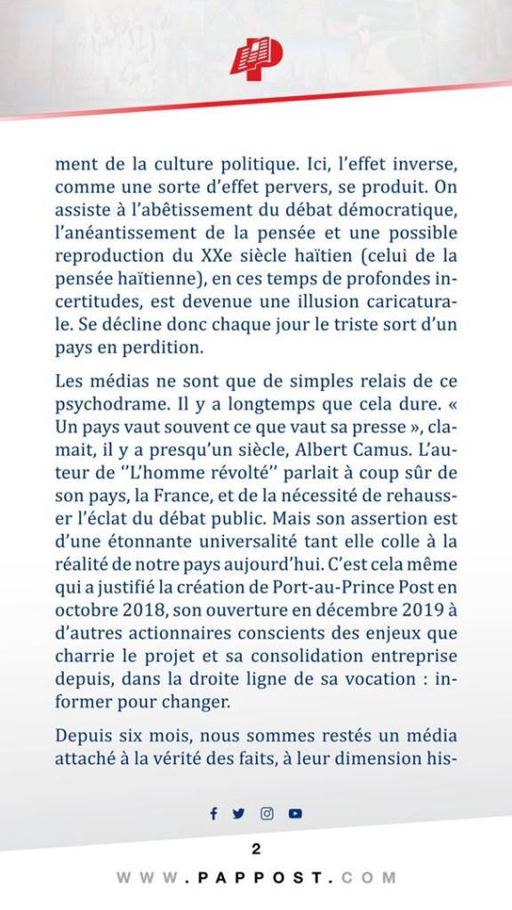 , Port-au-Prince Post, du lancement à la consolidation