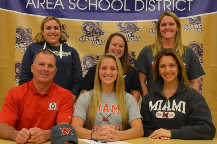 Spring-Ford Alexis Nugent selects Miami University of Ohio