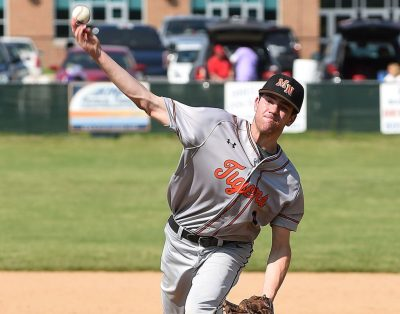 Cameron Mathes, a junior infielder/pitcher, was a key to Marple Newtown's run in the state tournament with three postseason victories that contributed to an 8-2 record and a 2.61 ERA. (Digital First Media/Robert J. Gurecki)