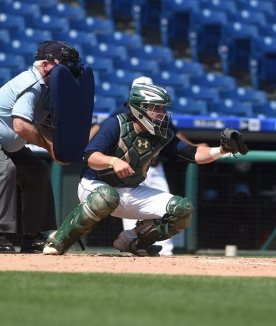 Steve Furman, a catcher for Bonner & Prendergast, is a two-time All-Delco who led the Friars with a .362 batting average. (Digital First Media/Pete Bannan)