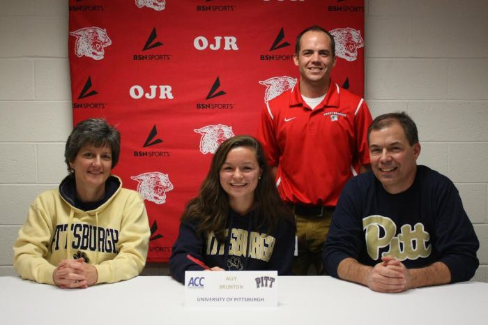Owen J. Roberts' Ally Brunton signs on with University of Pittsburgh