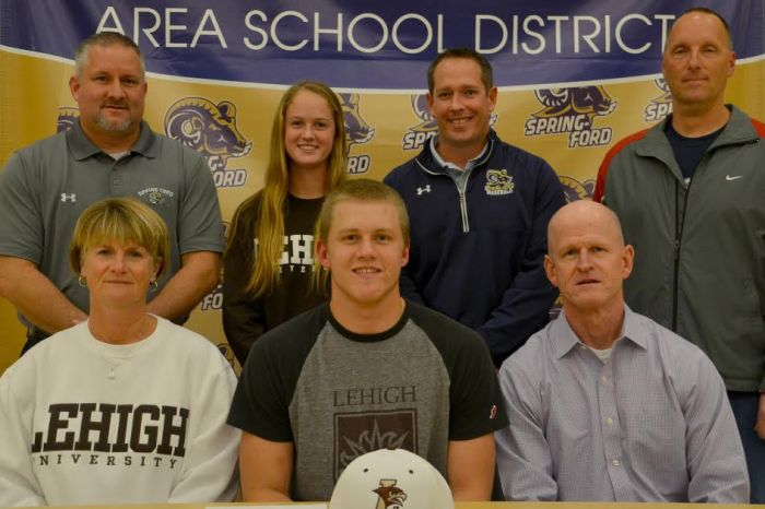 Spring-Ford's Quinn McKenna commits to Lehigh University