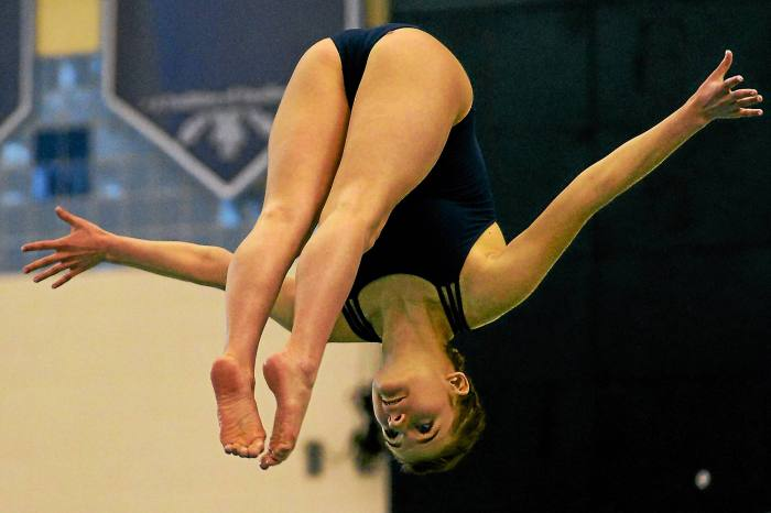 North Penn's Burrell wins District 1-AAA girls diving title