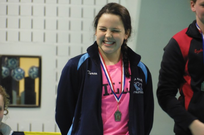 Conestoga girls roll in 200 free; Villa Maria well on its way of defending Class AA title