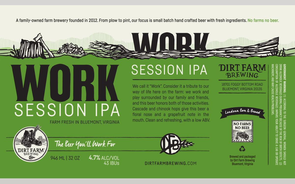 Dirt Farm Work Session IPA Label Design