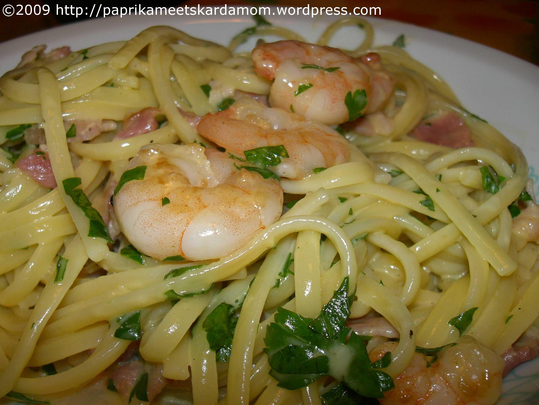 Shrimp-Carbonara