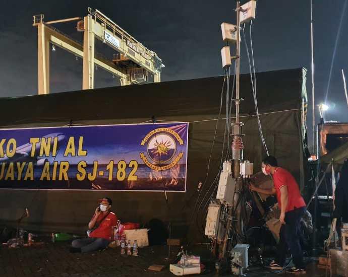 Telkomsel bantu komunikasi proses evakuasi jatuhnya Sriwijaya Air Sj-182