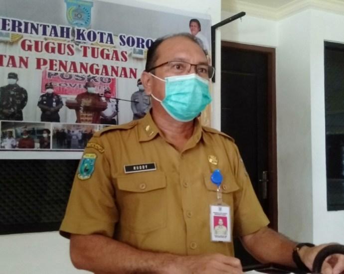Juru Bicara Tim Satgas COVID-19 Kota Sorong, Rudi Laku.