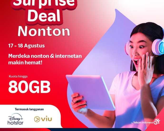 SURPRISE - Dapatkan Surprise Deal Telkomsel hingga 80GB. Foto: Istimewa