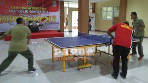 Olahraga Bersama, Polri-TNI Jalin Sinergitas Jelang HUT 72 Bhayangkara