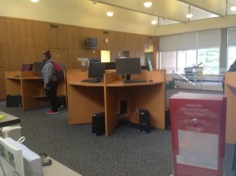 Student registering for classes.