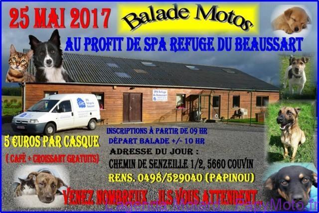 Balade Motos au profit de SPA Refuge de Beaussart – Couvin (Belgique)
