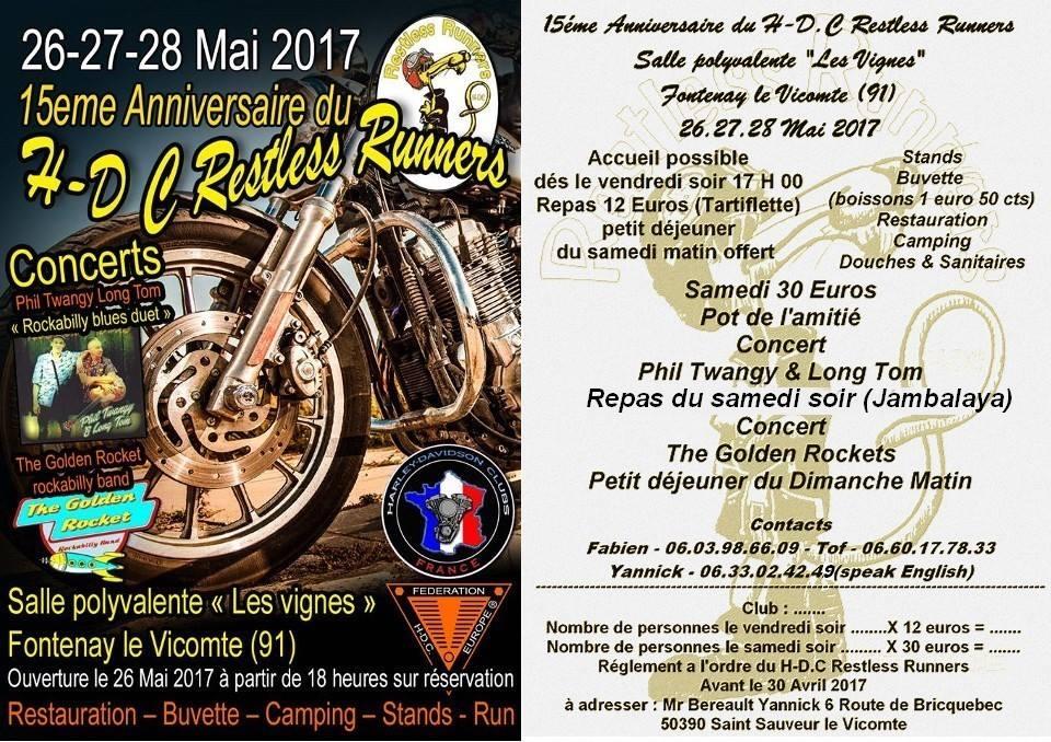 15e Anniversaire du HDC Restless Runners – Fontenay le Vicomte (91)