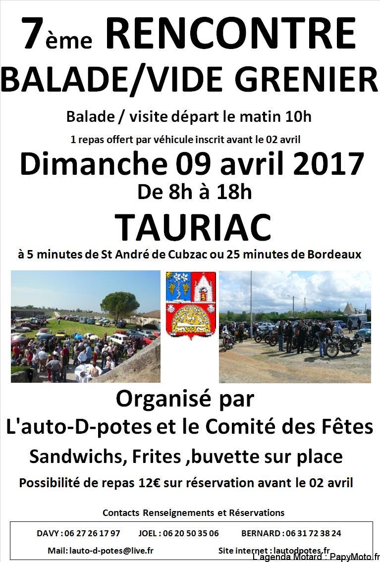 7e Balade / Vide grenier – Tauriac (33)