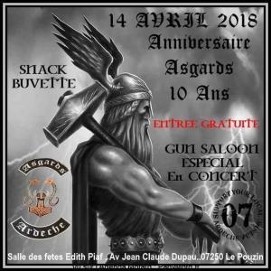 10e Anniversaire Asgards - Le Pouzin (07) @ Salle des fêtes Edith Piaf | Le Pouzin | Auvergne-Rhône-Alpes | France