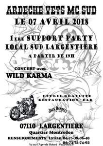 1ere Support Party des Ardèche Vets - Largentière (07) @ Local Sud  | Largentière | Auvergne-Rhône-Alpes | France