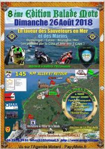 8e Edition Balade Moto en faveur des Sauveteurs en Mer et des Marins - Dunkerque (59) @ Parking Skateparck | Dunkerque | Hauts-de-France | France