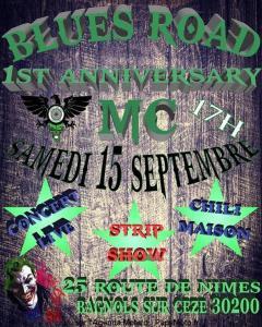 1st Anniversary - Blues Road MC - BAGNOLS-SUR-CÉZE (30) @ 25 Route de Nimes | Bagnols-sur-Cèze | Occitanie | France