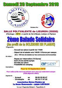 2E BALADE SOLIDAIRE – LIEURON (35) @ Salle Polyvalente | Lieuron | Bretagne | France