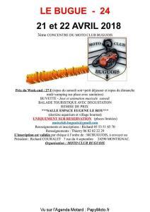 3e Concentre du Moto Club Buguois - Le Bugue (24) @ Salle Espace Eugéne Le Roy | Le Bugue | Nouvelle-Aquitaine | France