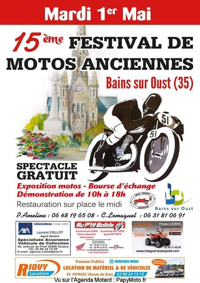 15e Festival de Motos Anciennes – Bains sur Oust (35)