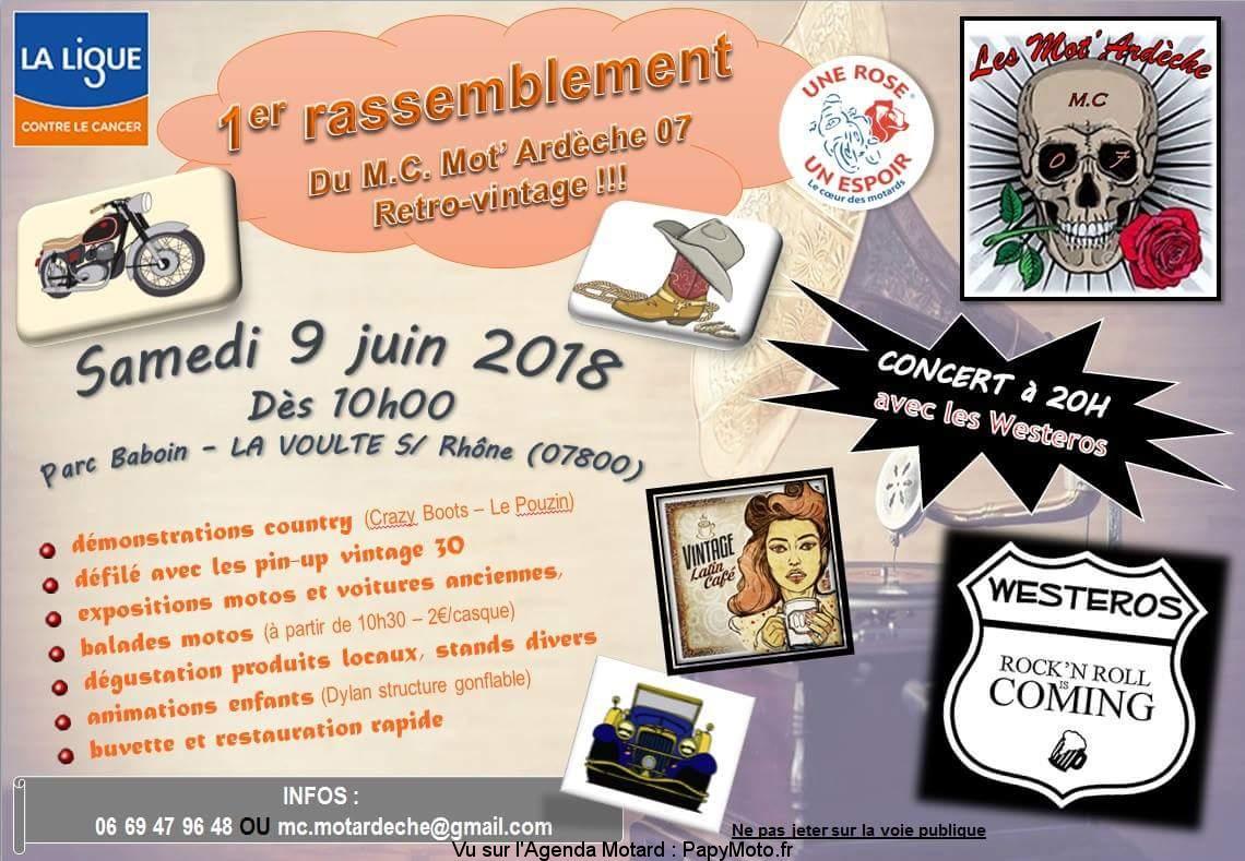 1er Rassemblement – Mot'Ardéche 07 – La Voulte Sur Rhône (07)