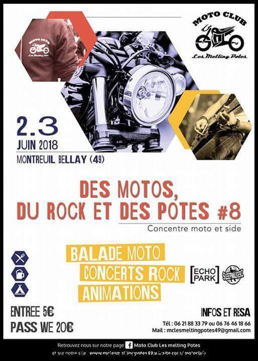 Des Motos, Du Rock et des Potes #8 – Les Melting Potes – Montreuil Bellay (49)